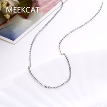 MEEKCAT Women's 1.5mm thin chain 18inch 46cm long style Chains necklace golden rose gold color fashion jewelry Christmas gift