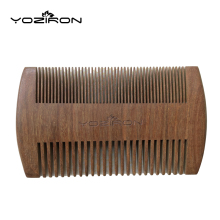 YOZIRON New Professional Natural Pocket Wooden Combs Dark Sandalwood Handmade Beard Comb Wood Hair Brush Styling Tool Y042