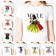 tattoo vogue princess snow white Print Women Tshirt Cotton Casual Shirt White Top Tee Big Size S-XXXL Hipster HH305-370