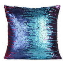 CAMMITEVER 2017 New Mixed Color Beautiful Mermaid 3 Tone Glitter Sequins Pillows Sofa Car Decorative Cushion Case Dropshipping(China)