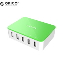 ORICO CSA-5U 5 Port With 2 Prong Power Cord Family-Sized Desktop USB Charger For Phone/Pad - Gray(China)
