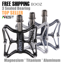 AEST Mountain bike pedals MTB Road Folding cycling Magnesium Pedal Platform CNC Titanium Ti Axle Pedal 167g/pair