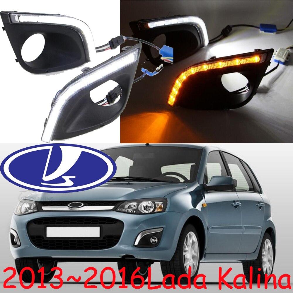 Car-styling,LADA Kalina daytime light,2013~2016,chrome,LED,Free ship!2pcs,LADA Kalina fog light,car-covers,Samara,Signet,Kalina<br>