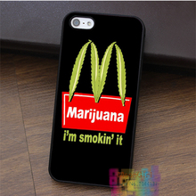 I'm Smokin' It Weed fashion cell phone case for iphone 4 4s 5 5s 5c SE 6 6s 6 plus 6s plus 7 7 plus #LI1511