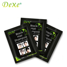 5pcs/lot Dexe Black Hair Shampoo Only 5 Minutes Grey Become Black Hair Color Hair Dye(China)