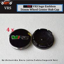 4Pcs 56mm 2.20inch  Auto Wheel Logo Cover For VRS logo wheel center caps  ABS Aluminum Car Wheel Emblem Cap