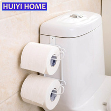 Huiyi Home Bathroom Organizer Toilet Paper Holder 2 Styles Stainless Steel Tissue Towel Shelf Kitchen Storage Rack EGN351(China)