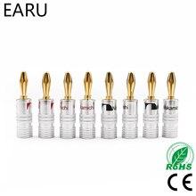 8pcs GD Amp Nakamichi Speaker Banana plug connectors(China)