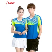 2017 New Design Men Tennis Shirts Sets Sport Suit Shorts With Jerseys Breathable Quick Dry Badminton Table Tennis Sportswear(China)