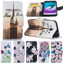 For Coque samsung galaxy j3 2016 case flip Leather Wallet Magnet Card Slot Cover Cases For Samsung Galaxy J3 2016 Phone Cases(China)