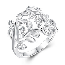 Girl's Accessries Silver Plated Olive Leaf Branch Plant Bridal Sets for Party Wedding Women Jewelry