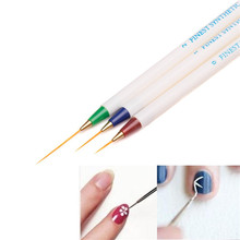3PCS Nail Art Design Set Dotting Painting Drawing Brush Pen Blue+Red+Green Color Nail Art Pen Make Up Tools for Women Girls