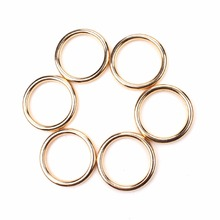 10pcs/lot 30*30mm Top Fashion DIY Jewellery Necklace Scarf Accessories gold colorPlastic CCB Round Rings