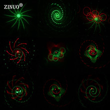 ZINUO Laser Star Light Projector Showers Christmas Garden Landscape Lighting Waterproof Outdoor Red Green Galaxy Laser Light DMX(China)
