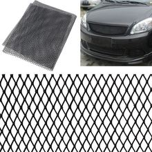 Universal 100x33cm Aluminum Car Vehicle Black Body Grille Net Mesh Grill Section Black /Silver
