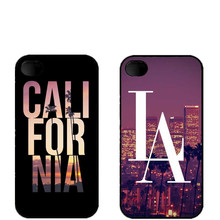 New York city LA California Slim Cool Design HardCover Plastic Protective Cover Case For iPhone SE 4 4S 5 5S 5C 6 6S 6Plus(China)
