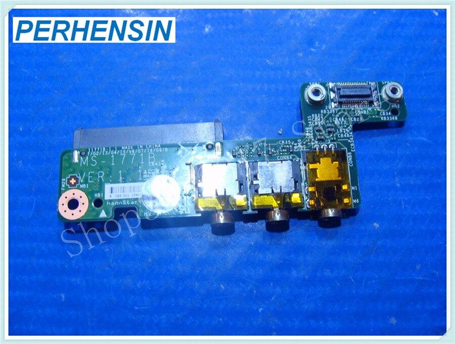 Genuine FOR MSI 17.3 MS-1771 Audio Jack Hard Drive Connector Board MS-1771B