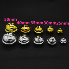 Beauty 50mm 40mm 10pcs/lot Gold/Silver Jingle Bells Fit Festival Christmas Decoration Jewelry Craft Pendants Phone Decorations(China)