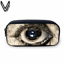VEEVANV 2017 New Arrival Dinosaur Eyes Print Case For Students Casual Mechanical Eyes Coin Purse For Girls Boys Make Up Bags
