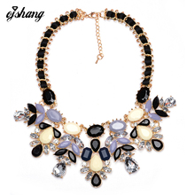 ZABrand 2016 Women Fashion Necklace Pendant Jewelry Candy Flower Statement Necklace Choker Collares Populares Beads Shourouk(China)