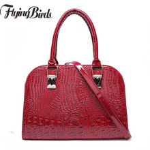 2017 New Luxury Women Leather Handbags Famous Brand Lady Shoulder Bags Crocodile Female Handbags Business Tote Pouch dl9091/f