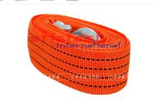 by dhl or ems 100pcs 3M 3Tons Car Tow Cable Emergency Trailer Rope 2 Anti-Slip Hooks for Heavy Duty red yellow