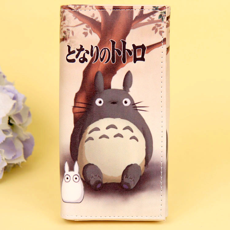 Cartoon My Neighbor Totoro Women Wallets PU Leather Students Wallet Cards Holder Women's Clutch Hasp Coin Purse Money Bags 14