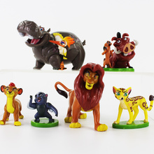 3-7cm 6Pcs/Lot The Lion King Simba Nala Timon Model Figurine PVC Action Figures Classic Toys Great Gifts for Children(China)