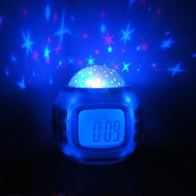 2016 Color-Change Multipurpose Star Digital LED Projector Alarm Clock Nightlight