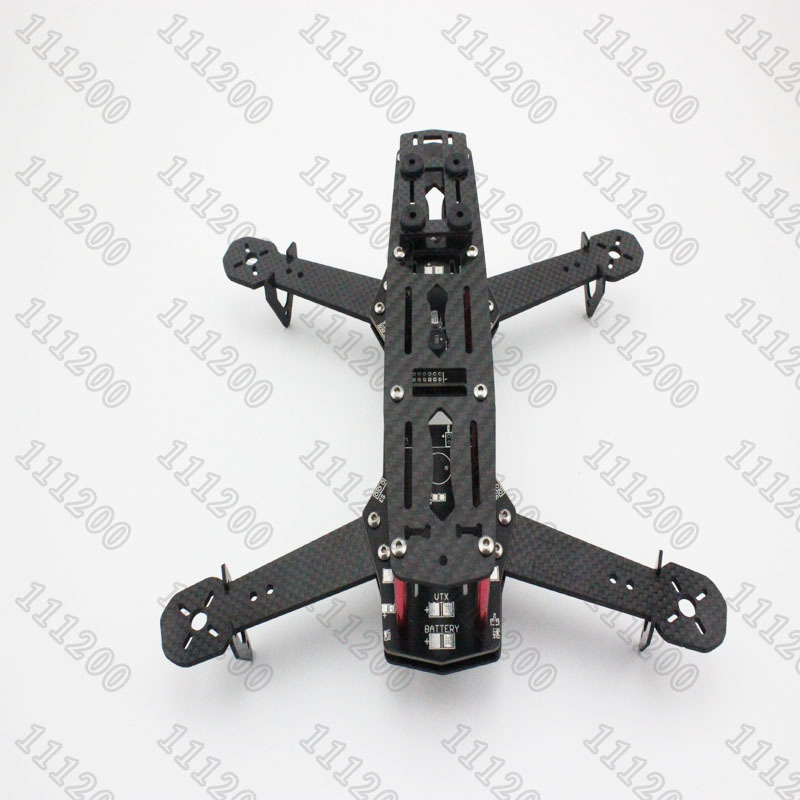 New QAV250 V2 PDB 250mm  Carbon Fiber Mini FPV PDB Quadcopter Quadricopter Frame Kit w/PCB Board and LED<br>