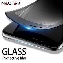 NAGFAK 3D Soft Edge 9H Tempered Glass For iPhone 7 6 6S Plus Full Cover Screen Protector For iPhone 6 6S 7 Plus Protective Glass
