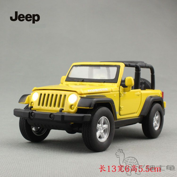 1:32 Jeep Wrangler Rubicon Off-road SUV Diecast Car Model Toy Vehicle Yellow Kid