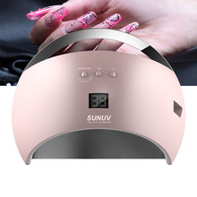 New version SUN6 Smart Lamp Nail LED Nail Dryer Metal Bottom LCD Timer Multicolors for Curing UV Gel Polish Nail Art