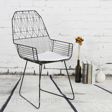 Minimalist Modern Design Metal Wire Chair, steel Diamond wire chair, loft metal wire chair with pad, padded Bertoia wire chair
