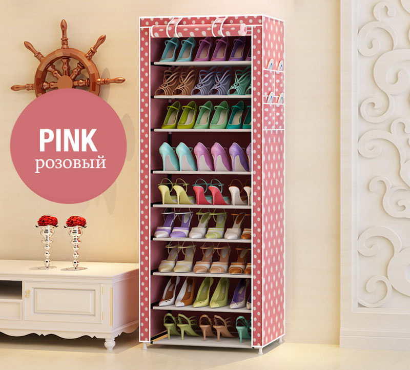 Multi-purpose Oxford Cloth Dustproof Waterproof Shoes Cabinet Shoes Racks 10 Layers 9 Grids Shoe Organizer Shelf Shoes Furniture 11