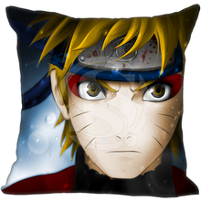 New Arrival Custom Pillow Case Naruto Uzumaki Anime Character Style Pillowcase zipper 35x35 cm (One side)  F922