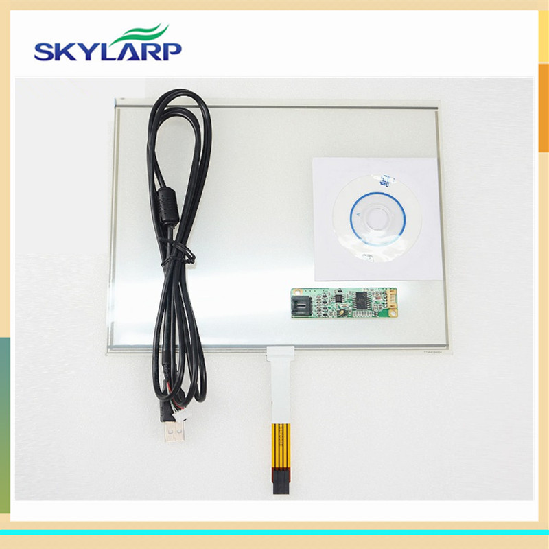skylarpu 10.4 inch for 226mm*177mm 4 Wire Resistive Touch Screen 226*177mm DIY Monitor Screen digitizer panel + USB Controller<br>