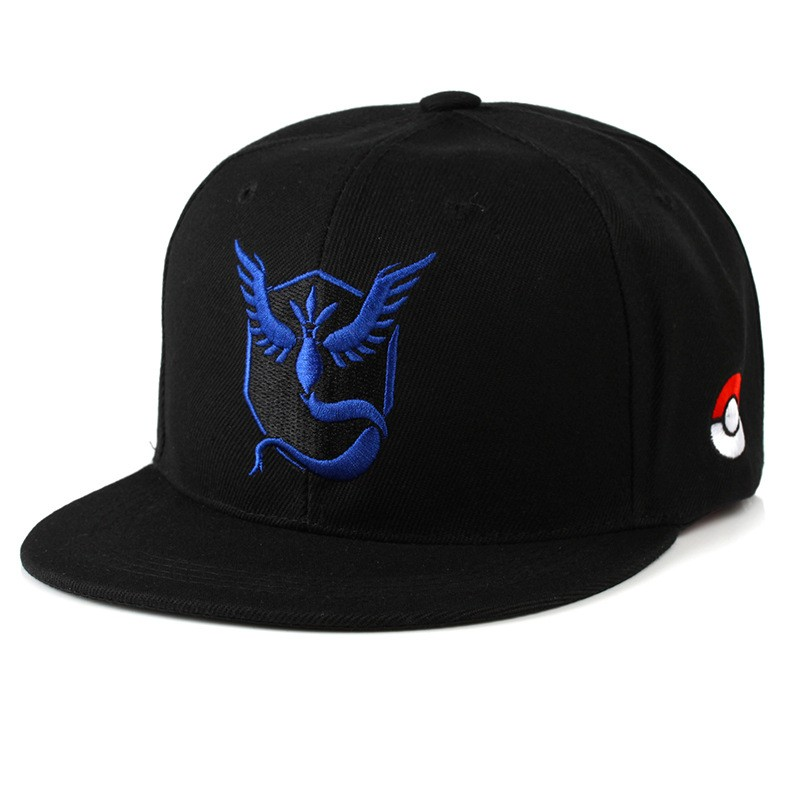 Composite Bats Cartoon Anime Poke mon Go Team Mystic/Valor/Instinct Baseball Cap Cosplay Monster Pika chu hip hop Man Woman Novelty hat