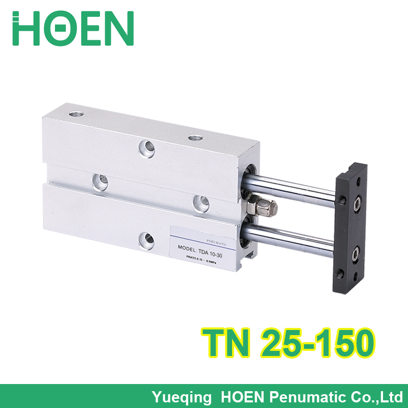 TDA 25*150  twin rod pneumatic cylinder /gas cylinder/dual rod guide air cylinder tn25-150 tn 25-150 TN25*150 tn 25*150 25x150<br>