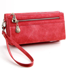 New vintage design women wallet long high quality female clutch zipper wallets big capacity purse cellphone bag pocket