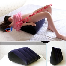 free shipping sex air furniture inflatable sex aid wedge pillow cushion/inflatable position master ramp pillow for couple love(China)