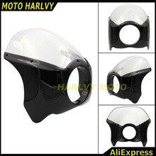 New arrived Wide Glide/Custom Mid Motorcycle Headlight Plastic Front Fairing Kit for Harley