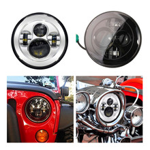 "For Jeeep Wrangler 97-15 Hummer Toyota Defender JK 7"" Round Headlight Led  7"" LED Harley Motorcycle Headlamp For Harley"