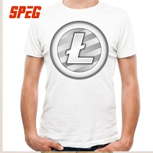 Buy Tees Free White Plain Litecoin New T Shirt Teenage Round Neck Short Sleeve T-Shirt Brand Male Cool Tee Shirts Cotton for $11.70 in AliExpress store