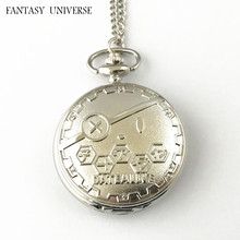 FANTASY UNIVERSE Freeshipping wholesale 20pc a lot pocket watch Necklace Dia47mm HDJDFUS01(China)