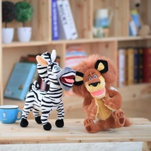 New Cute 28cm Cartoon Madagascar Giraffe Zebra Lion Plush toy Soft Forest Animals Doll Baby toy Kids Holiday Gifts Good Quality
