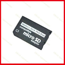 2pcs tf to ms card holder replacement For SONY PSP Memory Stick Micro SD Adaptor 32g(China)