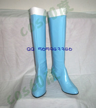 Sailor Moon Mercury light Blue Halloween Cosplay Boots shoes S008