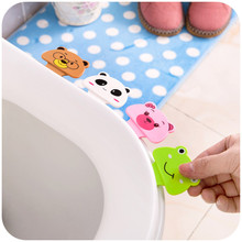 Hot Bath Bathroom Products Cute Cartoon Toilet Cover Lifting Device Toilet Lid Portable Handle House Accessories Free Shipping(China)