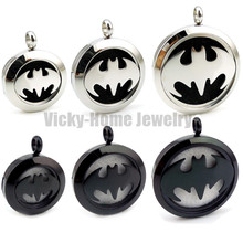 Buy silver chain gift Batman Aromatherapy / Essential Oils Stainless Steel Perfume Diffuser Locket Necklace drop for $3.79 in AliExpress store